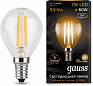 Лампа Gauss LED Filament Шар E14 9W 680lm 2700K 1/10/50