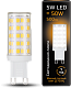 Лампа Gauss LED G9 AC185-265V 5W 2700K керамика 1/10/200