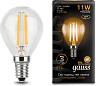 Лампа Gauss LED Filament Шар E14 11W 720lm 2700K 1/10/50