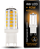 Лампа Gauss LED G9 AC185-265V 4W 400lm 2700K керамика 1/10/200