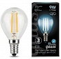 Лампа Gauss LED Filament Globe E14 9W 4100K 1/10/50