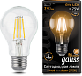Лампа Gauss LED Filament A60 E27 8W 2700К 1/10/40