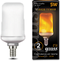 Лампа Gauss Led T65 Corn Flame 5W E14 1500K 1/10/100