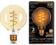 Лампа Gauss LED Filament G95 Flexible E27 6W Golden 2400К 1/20