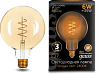 Лампа Gauss LED Filament G120 Flexible E27 6W Golden 2400К 1/20