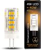 Лампа Gauss LED G4 AC185-265V 4W 400lm 2700K керамика 1/10/200
