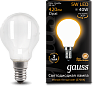 Лампа Gauss LED Filament Шар OPAL E14 5W 420lm 2700K 1/10/50