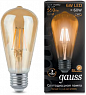 Лампа Gauss LED Filament ST64 E27 6W Gold 550lm 2400К 1/10/40