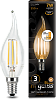 Лампа Gauss LED Filament Candle tailed E14 7W 2700K step dimmable 1/10/50