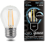 Лампа Gauss LED Filament Globe dimmable E27 5W 4100K 1/10/50