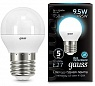 Лампа Gauss LED Globe E27 9.5W 4100K 1/10/50