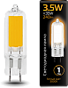Лампа Gauss LED G4 AC220-240V 3.5W 3000K Glass 1/10/200