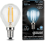 Лампа Gauss LED Filament Globe E14 7W 4100K 1/10/50
