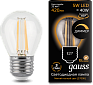 Акция | Лампа Gauss LED Filament Шар dimmable E27 5W 420lm 2700K 1/10/50