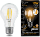 Лампа Gauss LED Filament A60 E27 10W 2700К step dimmable 1/10/40