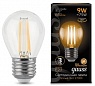 Лампа Gauss LED Filament Шар E27 9W 680lm 2700K 1/10/50