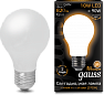 Лампа Gauss LED Filament A60 OPAL E27 10W 2700К 1/10/40